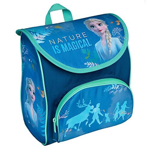 Scooli Vorschulranzen Cutie mit Klettverschluss und Brustgurt, Disney Frozen II, ergonomisch, leicht, ca. 5 Liter, blau