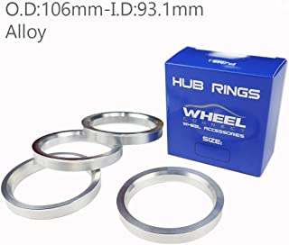 DCVAMOUS Alloy Aluminum Hub Centric Rings 73.1 to 57.1 Set of 4 Performance Spigot Hubrings fit 57.1mm Vehicle Hub and 73.1mm Wheel Center Bore Compatible with Audi VW Volkswagen