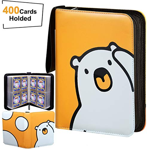 SMEXO Cards Collector Album,Trading Card Games Book Binder,Carrying Case Holder Compatible with Pokemon,Football,Baseball,Basketball Card- Holds Up to 400 Cards with 50 4-Pocket Pages