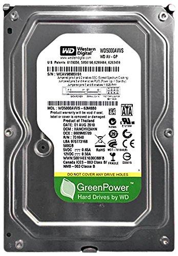 Western Digital WD5000AVVS-63M8B0 500GB, 7200RPM, SATA Internal Hard Drive