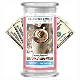Cash Money Candles   $2-$2500 Inside   Guaranteed Rare $2 Bill   Large Long-Lasting 21oz Jar All Natural Soy Candle   Fall/Winter Collection   Cinnamon Peppermint