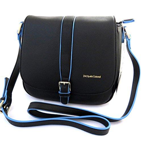 Shoulder bag 'Jacques Esterel'blu nero.