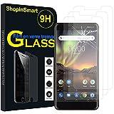 ShopInSmart 3x Hochwertige gehärtete Panzerglasfolie für Nokia 6 (2018)/Nokia 6.1 5.5