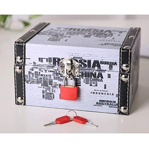 JISHIYU - Q Jewelry Display Storage Case para mujer, caja de joyería de cuero organizador caja de almacenamiento, para pendientes, collar, anillo y pulsera (color: A)