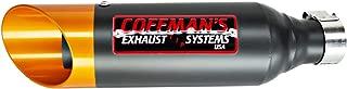Coffman's Shorty Slip On Exhaust Muffler for Kawasaki Ninja 300 (2013-2017) Sportbike with Gold Tip