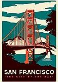 San Francisco c1004 A4 Poster - Glänzendes dickes