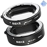 Meike MK-Z-AF1 Metal Auto Focus Macro Extension Tube Set(11mm+18mm) Fit Nikon Z Mount Z6 Z7 Z50 Cameras, for Macro Photography+Mcoplus Cloth