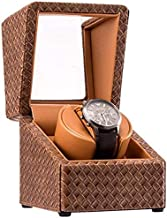 Mechanical Watch Winder, Single-Table High-End Luxury Portable Watch Storage Box, Leather Mini Electric Motor 1 + 0 Watch Shaker