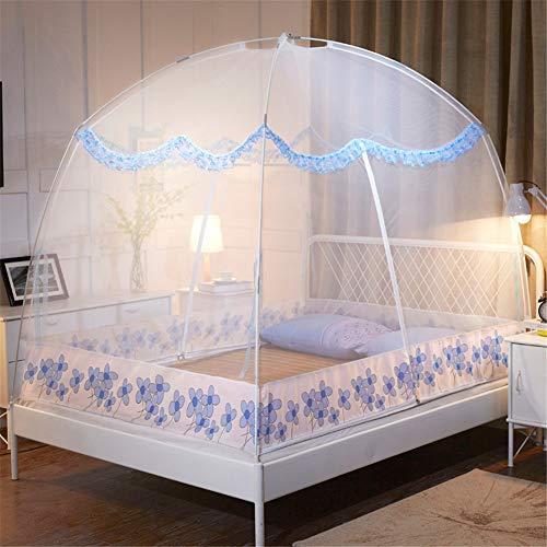 Klamboes, Opvouwbaar Double Deuren Zijn Eenvoudig In Te Stellen Met De Onderste Anti-muggenbeet Bed Camping Trip, Exquisite Yurt Klamboe (120 * 200cm,white)