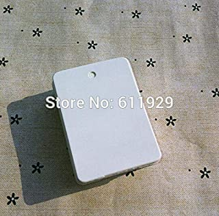 Lysee 500 pcs a lot Blank White 350 GSM Paper tag 3.5x5cm/baking Price tag/Clothing Hang tag/Gift Packing tag