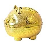 ZAKRLYB Piggy Piggy Bank, hucha irrompible, plástico de 6 pulgadas grande hucha dorada, niño y niña, biblioteca de monedas duraderas, almacenamiento para apreciar la hucha, decoración de la bolsa de d