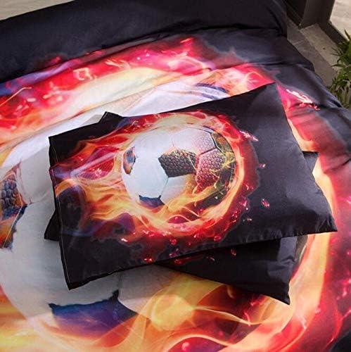 JSDJSUIT Sets de Housse Sports Series World Cup Football Home Textile Literie Ensemble avec taies d'oreiller 3pcs, US Twin 2pcs Au Double: Housse de Couette 180 X 210 Cm