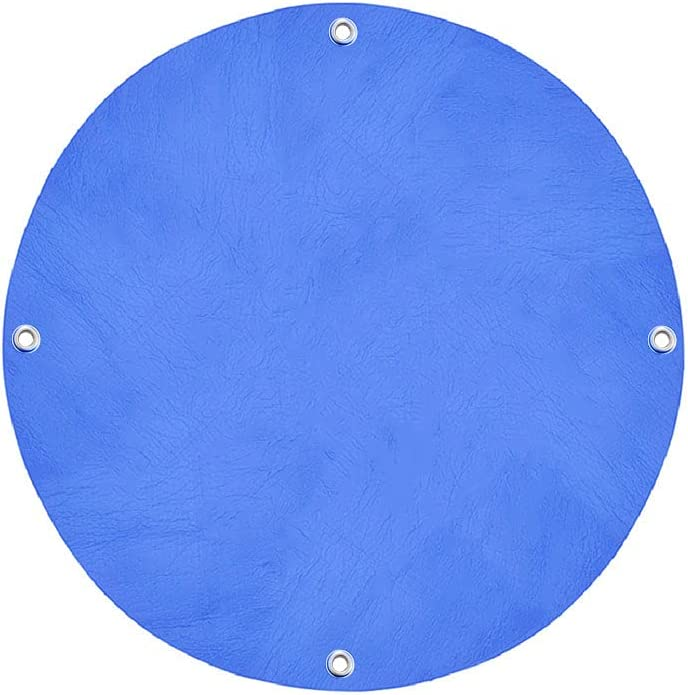 HBYYBF Above Ground Pool Cover for Frame Pools Reduce Water Evaporation Solar Round Swimming Pool Cover for Round Inflatable Pool Keep Water Warm 8 FT Blue