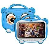 Tablet Para Niños 7 Pulgadas Tablet Infantil Android 10.0 Quad-Core Processor, 16GB ROM 128GB Expansión, HD Pantalla1024*600 Doble Camera(0.3MP+2MP)Wifi,GPS,Certificación Google,Juegos Educativos-Azul