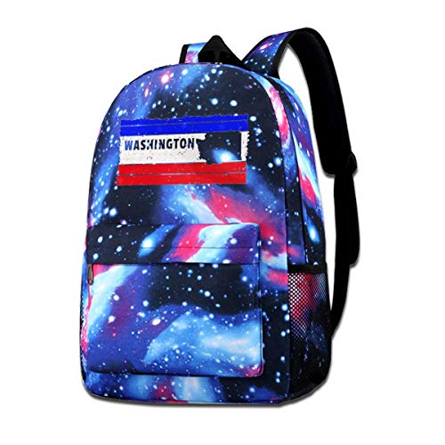 Lawenp Washington USA State Galaxy Backpacks for School Travel Business Shopping Work Stylish Bags Casual Daypacks