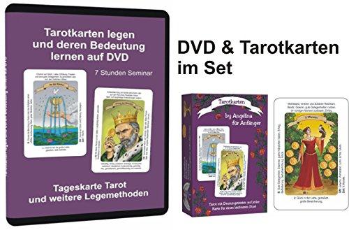 Angelina Schulze Verlag Tarotkarten für Anfänger im Set mit der DVD Tarot (EIN 7 Stunden Seminar mit Deutungshilfen und Legesystemen)
