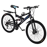 26in Carbon Steel Mountain Bike Shimanos21 Speed Bicycle Full...