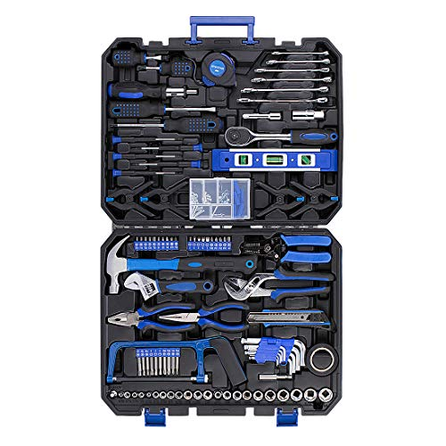SPECSTAR 168 PCS General Household Socket Wrench Combination Hand Tool Kit Heavy Duty Auto Mechanics Repair Set with Portable Plastic Storage Case
