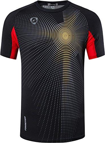 jeansian Big Boy's Quick Dry Sport Short Sleeves T-Shirt Tee LBS702 Black S