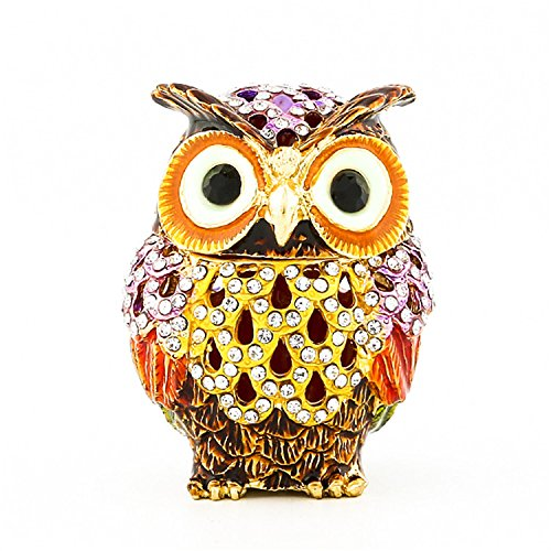 Image of Hinged Jeweled Owl Collectible Box