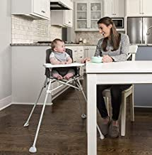 Regalo My High Chair Portable Travel Fold & Go Highchair, Indoor and Outdoor, Bonus Kit, Includes Travel Case and Tray with Cup Holder, Grey