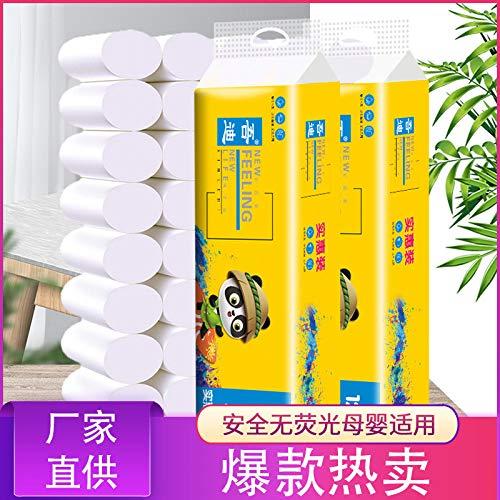 Klopapier Holz Haushalt Toilettenpapier kernlose Rolle Papier Toilettenpapier Toilettenpapier Großhandel Handtücher, 6 Rollentoilettenpapier