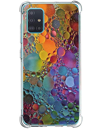 Vivio - Carcasa para Samsung Galaxy A51 (antigolpes, transparente, silicona, diseño de flores d Talla única