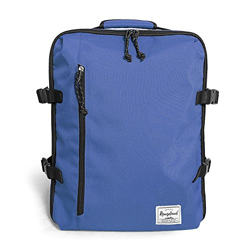 Rangeland Travel Backpack NEW 2020 21L Carry-on Daypack Fits 15-inch Laptop Notebook and Travel Accessories, Blueberry Meets IATA Flight Standards