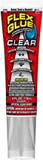 Flex Glue Clear 4 oz - Super Strong Transparent Waterproof Adhesive