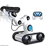 SHARPER IMAGE Full Function Wireless Control Robotic Arm Toy with Spotlight, Jumbo Claw Grip & Tank Tread Wheels, 2.4GHz