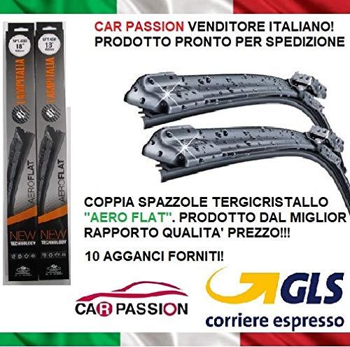 Coppia Spazzole Tergicristallo Anteriori Compatibili con ALFA ROMEO MITO 65 38 cm Aero Flat Nuove