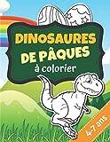 dinosaures de pâques à colorier 4-7 ans: dinosaures de pâques à colorier | livre de coloriage|