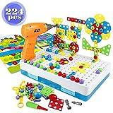 yoptote MosaiqueEnfant Puzzle 3D JeuxMontessori Educatif JeuConstruction Jouet Enfant Garcon Fille 3 4 Ans+(224PCS)
