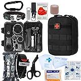 GRULLIN Survival Kit 51 in 1 Erste-Hilfe-Notfall-Überlebensausrüstung IFAK-Werkzeugkoffer, Home-Office-Auto Wandern Jagd Camping Abenteuer für Männer Dad Boyfriend