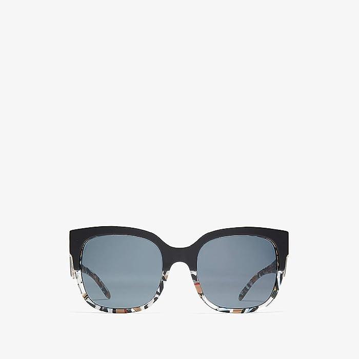 Burberry  0BE4271 (Top Black/Check/Grey Gradient) Fashion Sunglasses