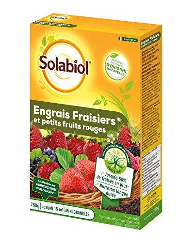 SOLABIOL SOFRAY750 Engrais Fraisiers Et Petits Fruits 750 G, Incolore