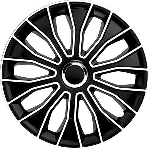 kh Teile Radkappen 15 Zoll Voltec Pro Black schwarz/weiß 15