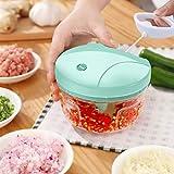 Manual Food Chopper, Hand Pull Onion Chopper, Handheld String Food Processor for Veggie, Garlic,...