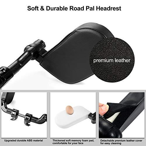 Yoocaa Car Headrest Pillow, Road Pal Headrest, Adjustable Car Seat Head Neck Support, U Shaped Car Sleeping Pillow for Kids