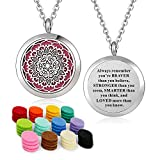 YOUFENG Essential Oil Necklace Diffuser Family Tree of Life Necklace Pendant Aromatherapy Locket Gifts (Sunflower)