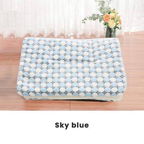 qingy S/M/L/XL/XXL/XXXL Thickened Pet Soft Fleece Pad Blanket Bed Mat For Puppy Cat Sofa Cushion Home Washable Rug Keep Warm,G,XL 71x54cm
