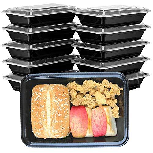 HENSHOW 1 Compartimiento de Comida Juegos de Recipientes Set de 10 Piezas, 1000 ML Premium Reutilizable BPA Libre Juegos de Recipientes con Tapa, Microondas, Congelador y Apto para Lavavajillas