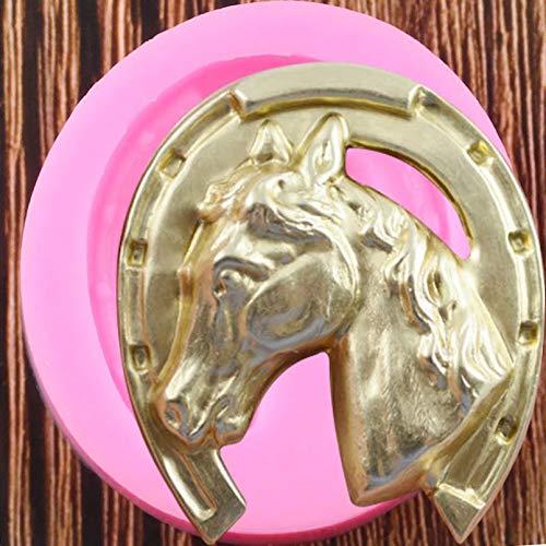 HONGYAN SilikonformKuchenform Pferdekopf und Hufeisen SilikonformenParty Fondant Kuchen Dekorationswerkzeuge Candy Schokoladenformen Küche Backform