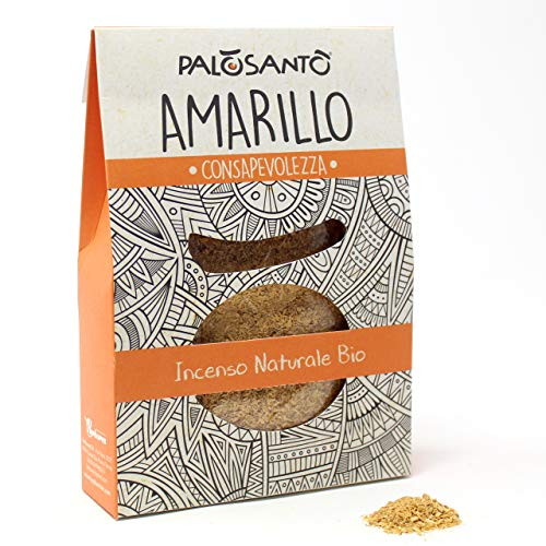 Trucioli Palo Santo Amarillo - Palo Santo Biologico - Incenso in Polvere Naturale - Aroma Ideale per profumare la casa, purificazione Ambienti, Yoga e Meditazione - Confezione da 80 gr