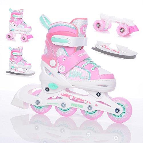 TEMPISH Mädchen Verso II Inline-Skates, pink, 30-33