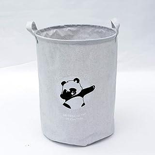 ZXXFR Panier À Linge Sale Corbeilles À Linge,Paniers À Linge Panda Gris Fashion Design De Recharger Le Sac De Rangement Pl...