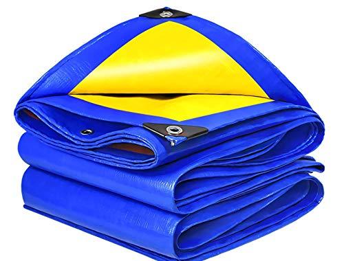 KAISIMYS Lona Impermeable, Utilizada para techos y tamaños, Impermeable, Resistente al Viento y a la Lluvia, Lona Azul Resistente al desgarro 160g / M sup2;Espesor 0,32 mm, 3 m Veces; 4 m / 9,8 pies