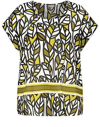 Samoon Bluse 1/2 Arm Camicia, Motivo citronella, 54 Donna