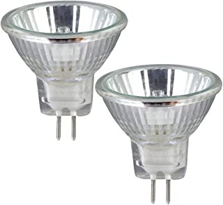 2 Pack Clear MR11 12Volt 20Watt G4 Bi-Pin Base, Precision Halogen Reflector Fiber Optic Light Bulb 20W 12V Halogen Bulb Wi...
