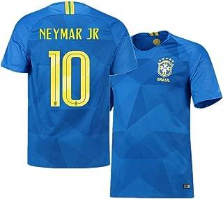 Wusfeng Brazil National Football Team Men's Football Jerseys Neymar da Silva Santos Júnior #10 Uniform Home Kit T-Shirt Soccer Suit Football Clothing Top